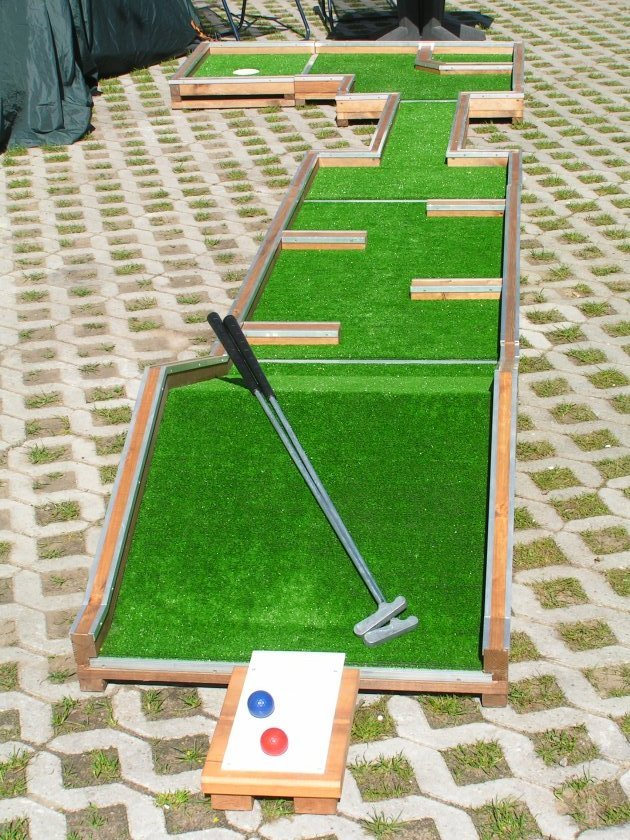 Want to play mini golf play it at home interchangeable